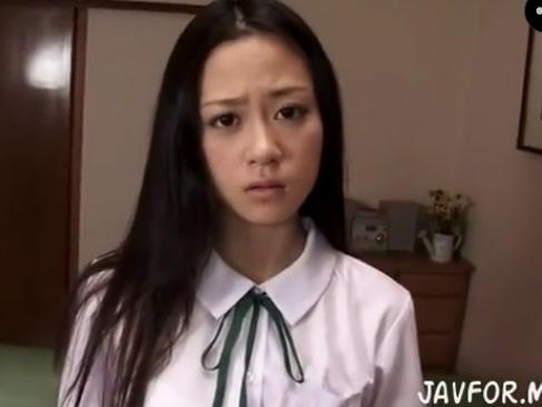 JK|黒髪の清楚な女の子が制服やスク水、ロリ下着でセックスする動画